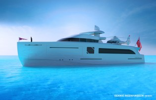 View large version of image: Dennis Ingemansson presents his new 42m explorer yacht ANOTHER DIMENSION concept