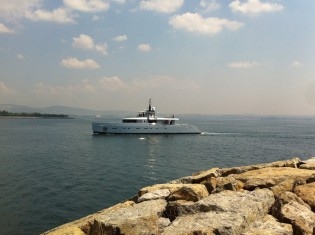 View large version of image: New 38,75m superyacht ALYSSA launched by Tansu Yachts
