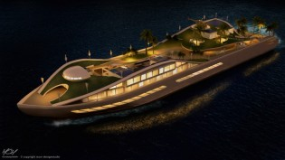 View large version of image: ISLAND (E)MOTION yacht concept by MCM Designstudio shortlisted for IY&A Award 2015