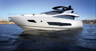 View large version of image: World premiere of first Sunseeker 86 Yacht at 2014 Southampton Boat Show