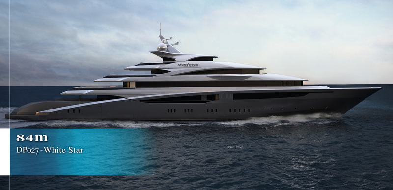 View Large Version Of Image 84m Oceanco Mega Yacht WHITE STAR Concept Project DP027