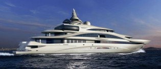 View large version of image: Yachtley to build 87m mega yacht designed by Gresham