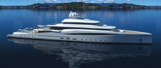 View large version of image: New 94m mega yacht PURITY concept to be introduced by Azure at MYS 2014