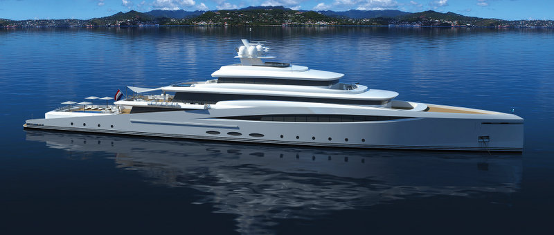 View Large Version Of Image New 94m Mega Yacht PURITY Concept To Be Introduced By