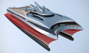 View large version of image: New BMT Nigel Gee superyacht Project L3 to be launched at MYS 2014