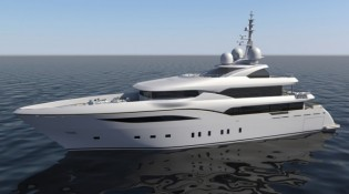 View large version of image: Launch of 50m Bilgin 164 super yacht ALFULK project