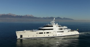 View large version of image: 73m mega yacht GRACE E launched by Vitruvius Yachts at MYS 2014
