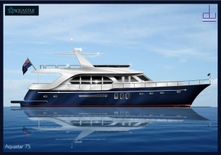 View large version of image: New 22m motor yacht Aquastar 75