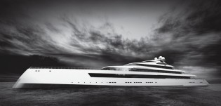 View large version of image: New 115m mega yacht ESTATEMENT concept to be introduced by Pride Mega Yachts at MYS