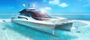 View large version of image: Superyacht Project CHUAN unveiled by Claydon Reeves and BMT Nigel Gee