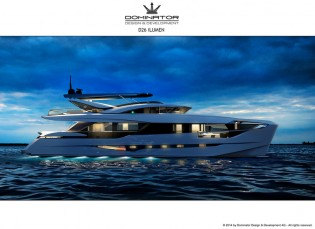 View large version of image: Dominator unveils D26 M ILUMEN Yacht at Cannes Yachting Festival