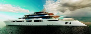 View large version of image: 108,8m superyacht TOMORROW project unveiled by Pride Mega Yachts at MYS 2014