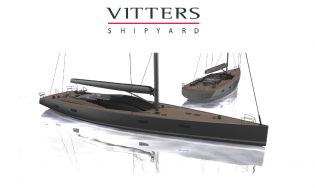 View large version of image: Vitters starts working on construction of 33m superyacht MM33