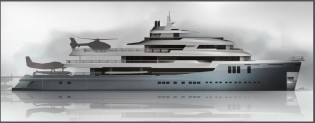 View large version of image: 74m mega yacht AUSTIN concept with interior by Haak shortlisted for IY&A Awards 2015