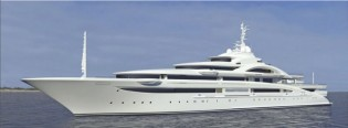 View large version of image: 120m mega yacht MARYAH under sea trials