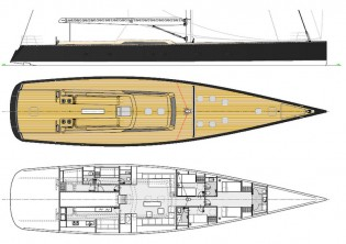 View large version of image: New superyacht Wally 110 under construction at Wally