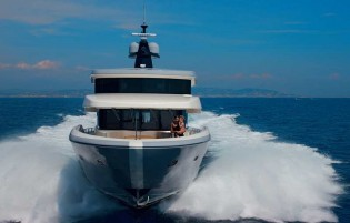 View large version of image: Oceanic Yachts 90 superyacht TSA TSA undergoes first sea trials