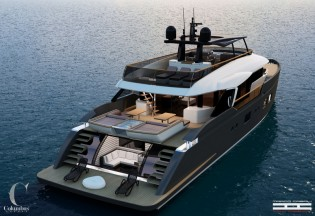 View large version of image: Columbus Yachts unveils new 32m superyacht LIBERTY