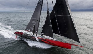 View large version of image: Hodgdon racing yacht COMANCHE sets sail for Sydney