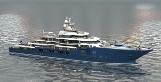 View large version of image: Kleven signs contract for new 116m Expedition Yacht Support Vessel