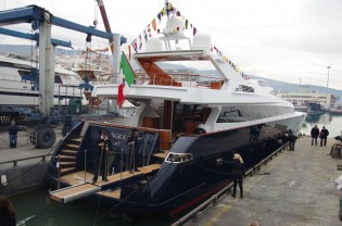 View large version of image: New Castagnola 38 WJ superyacht ANGRA TOO launched