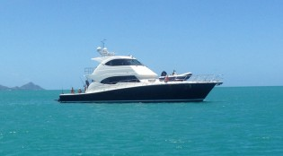 View large version of image: Riviera 75 Enclosed Flybridge Yacht SEABREEZE appears in TODAY SHOW