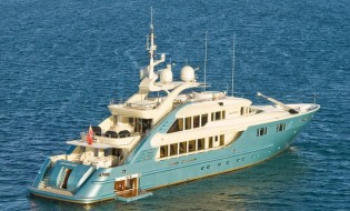 View large version of image: Videoworks in Australia for refit of ISA 470 superyacht AQUAMARINA