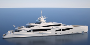 View large version of image: ISA Yachts building 66m mega yacht ROUTE 66