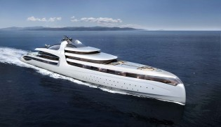 View large version of image: New Admiral mega yacht X-FORCE 145 concept