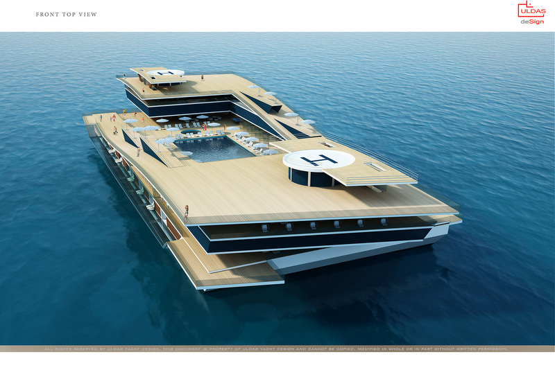View Large Version Of Image Uldas Design Unveils New 130m Catamaran Project