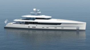 View large version of image: Latest 50M Vitruvius® Superyacht Design