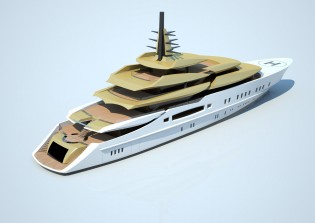 View large version of image: Tankoa Yachts introduces S801 mega yacht GOLDEN WINGS concept