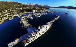 View large version of image: 140m Fincantieri mega yacht OCEAN VICTORY in Porto Montenegro