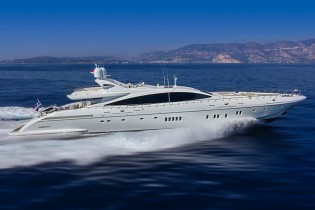 View large version of image: Mangusta 165 E Yacht MOONRAKER to be exhibited at Miami Boat Show 2015