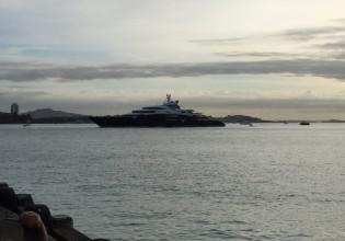 View large version of image: 134m mega yacht SERENE arrives in New Zealand