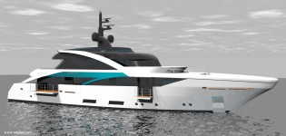 View large version of image: Sabdes Design unveils new superyacht SLeek 39m concept