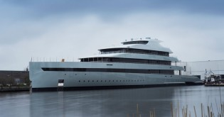 View large version of image: New 83,50m mega yacht SAVANNAH launched by Feadship