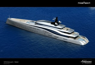 View large version of image: New 107m mega yacht STILETTO concept by Oceanco and Ken Freivokh
