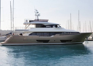 View large version of image: Launch of second Custom Line Navetta 28 superyacht
