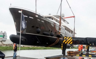 View large version of image: New 37m superyacht SANTA MARIA T by Wim van der Valk launched
