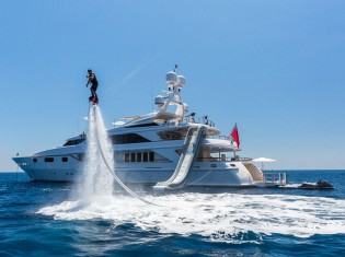 View large version of image: Thinking about a Mediterranean Yacht Vacation? 50m QM OF LONDON superyacht has it all!