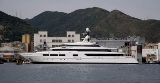 View large version of image: First TANKOA S693 Mega Yacht SUERTE launched