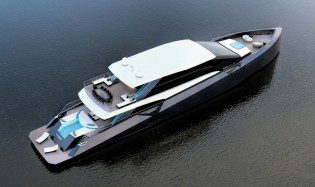 View large version of image: Letizia Alessandrini unveils latest 50m superyacht AMNESIA concept