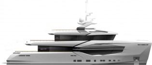 View large version of image: Numarine working on first 30XP Series Superyacht