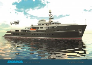 View large version of image: Explorer yacht Legend is launched