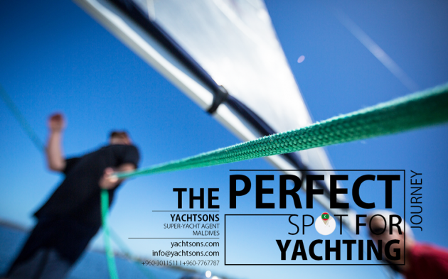 View large version of image: The Perfect Spot for Yachting l Maldives