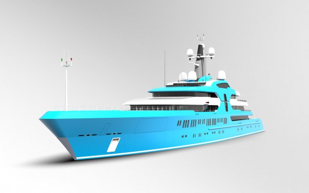 View large version of image: Mega yacht 120