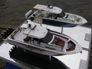 View large version of image: Ocean Alexander 45' scale model