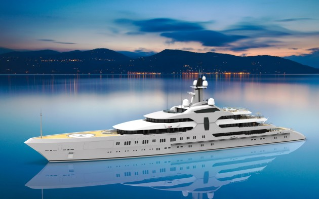 View large version of image: Mega yacht 120 m.