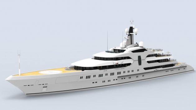 View large version of image: 120 m. Mega Yacht Concept Design